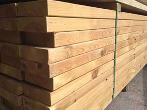 "Kiln Dried Regularised Sawn Treated Timber C16/C24 47x200mm (8""x2"")"
