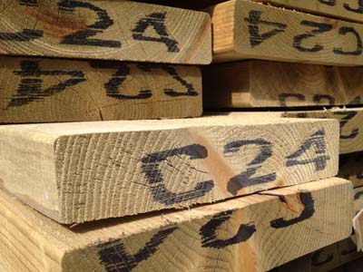 Kiln Dried Regularised Sawn Treated Timber C24 Graded